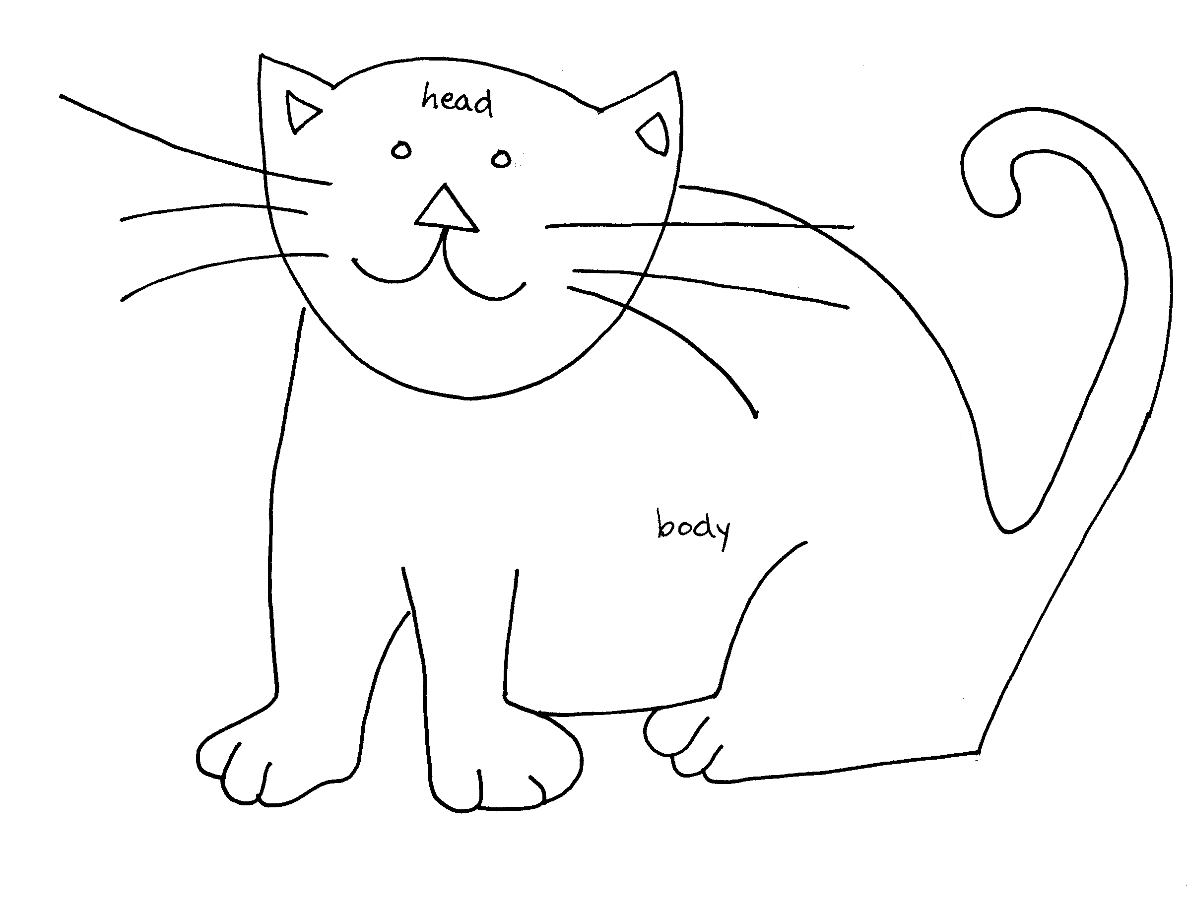 Cat Contour Line Drawing : Simple line drawings of cats imgkid the image